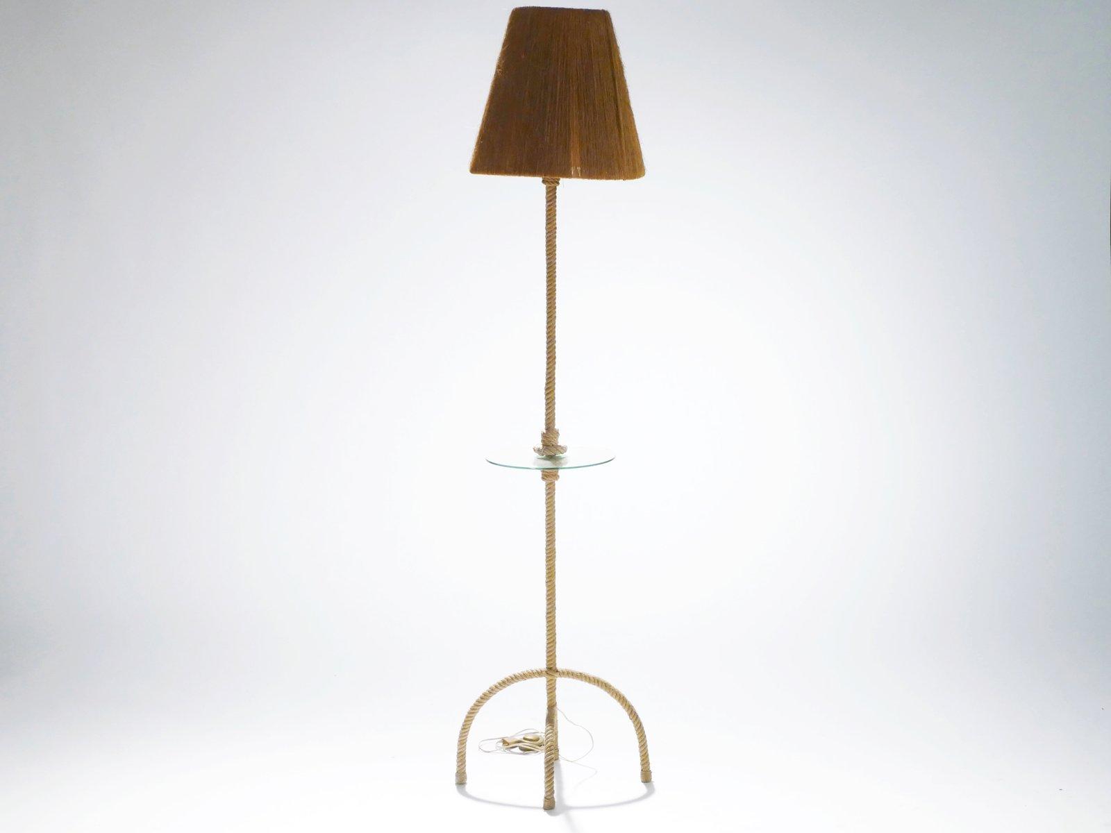 Seil Stehlampe von Adrien Audoux & Frida Minet, 1960er