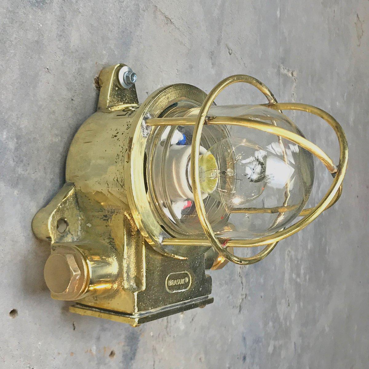 Britische Messing Industrie Lampe von Messinguk, 1972