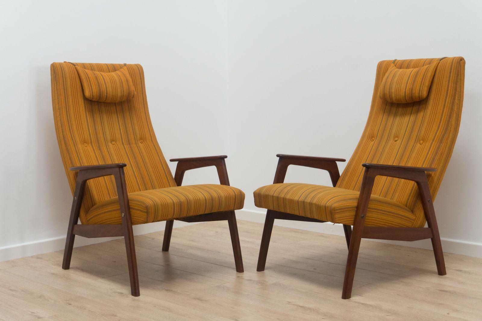 Dänische Mid-Century Palisander Sessel, 1950er, 2er Set