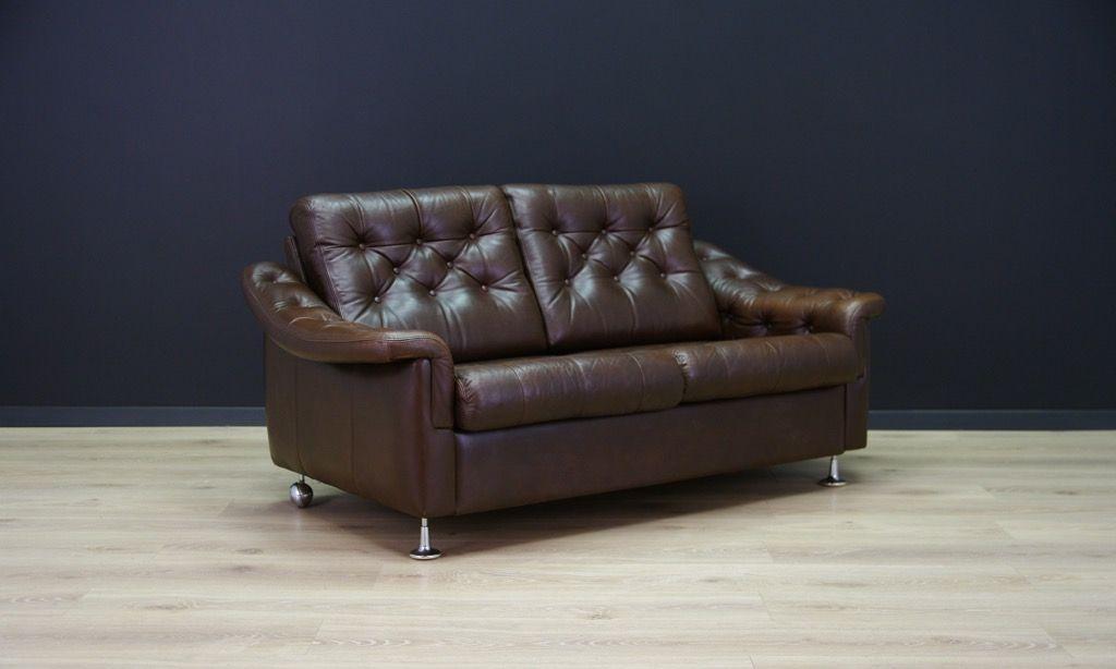 d nisches mid century leder sofa 1960er bei pamono kaufen. Black Bedroom Furniture Sets. Home Design Ideas