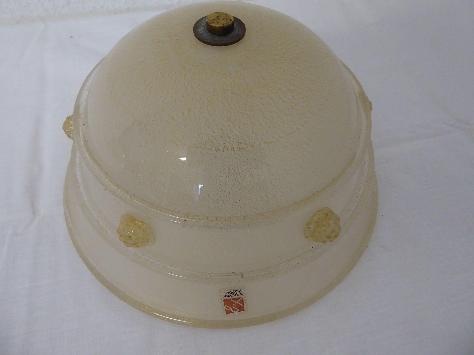 Deckenlampe von Ercole Barovier für Barovier & Toso, 1960er
