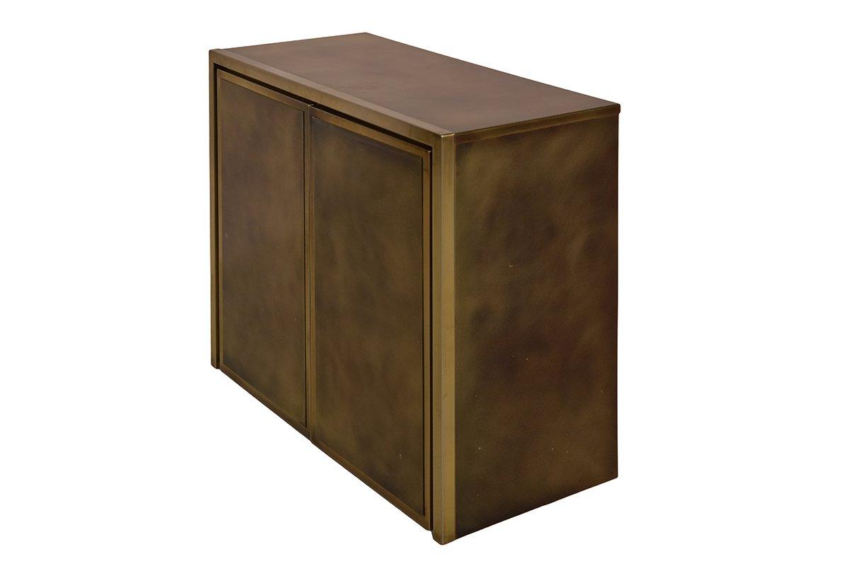hollywood regency messing bronze schrank von belgo chrom 1980er bei pamono kaufen. Black Bedroom Furniture Sets. Home Design Ideas