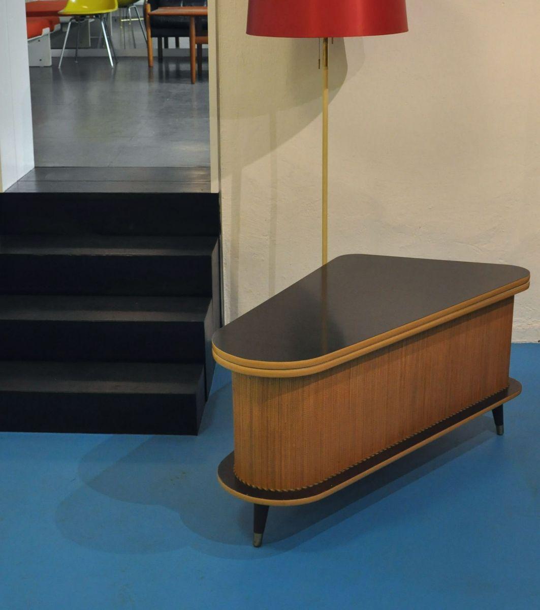 Tisch mit Barfach von Rohde Qualitätsmöbel, 1950er