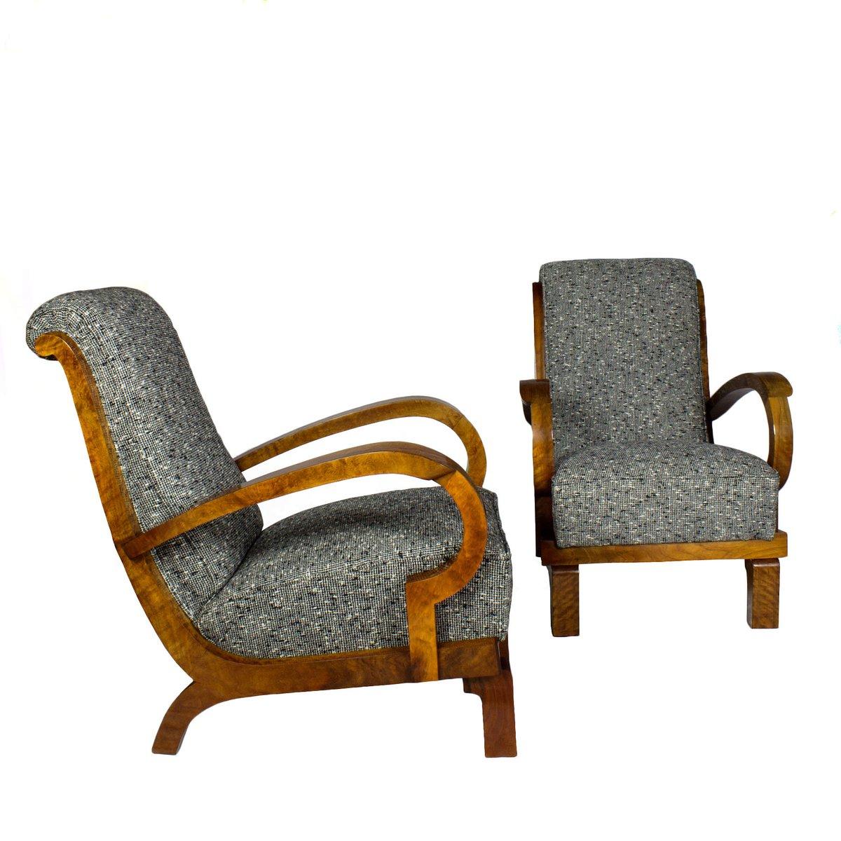 italienische art deco sessel 1930 2er set bei pamono kaufen. Black Bedroom Furniture Sets. Home Design Ideas