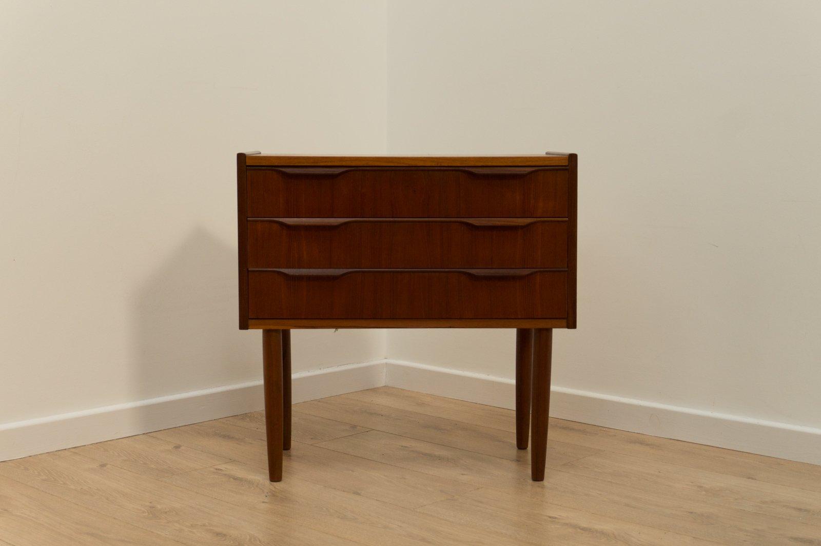 d nische mid century teak kommode 1950er bei pamono kaufen. Black Bedroom Furniture Sets. Home Design Ideas
