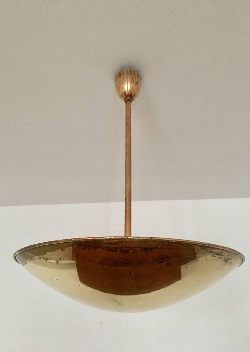 Wundervoll Messing Deckenlampe Galerie Von Italienische Deckenlampe, 1950er