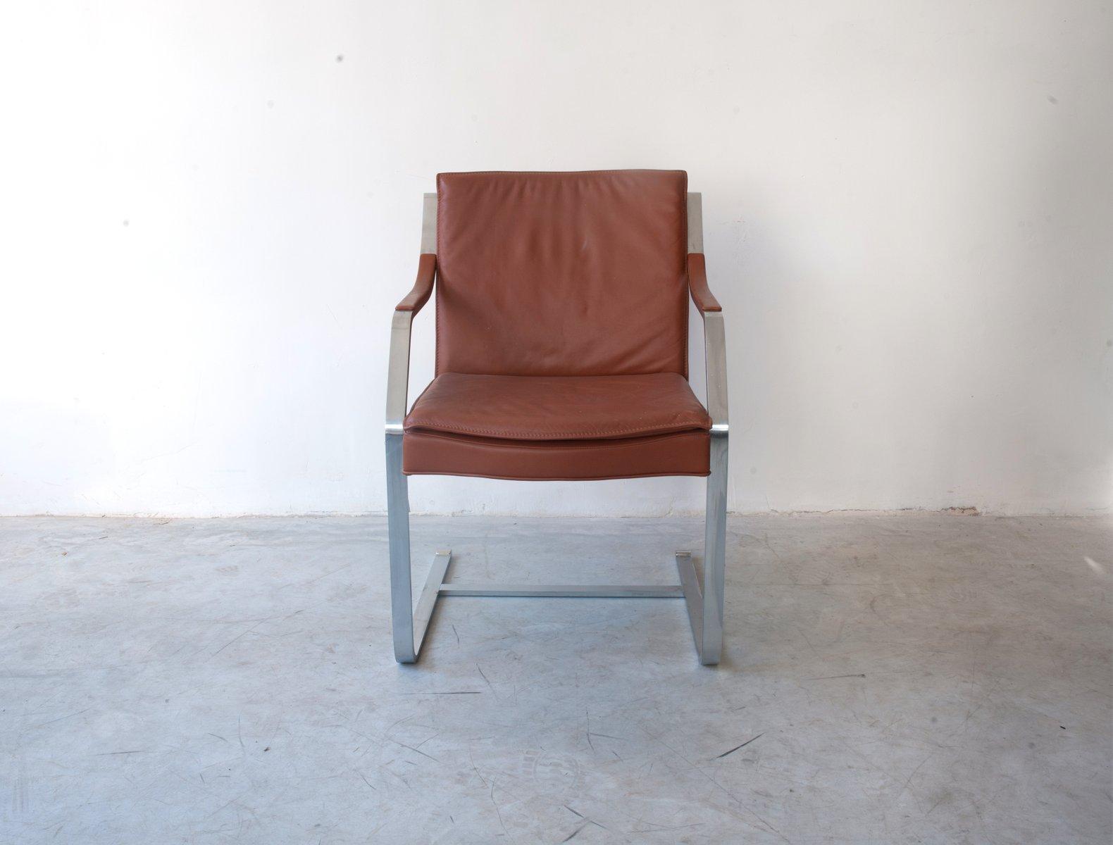 Kamelbrauner Leder Sessel von Rudolf Bernd Glatzel für Walter Knoll, 1...