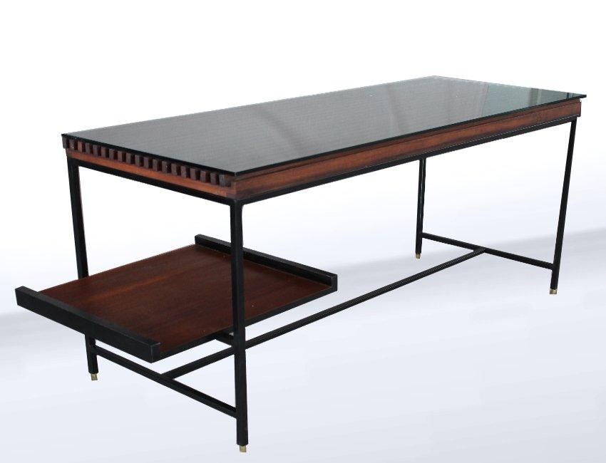 italienischer mid century schreibtisch aus metall holz 1958 bei pamono kaufen. Black Bedroom Furniture Sets. Home Design Ideas