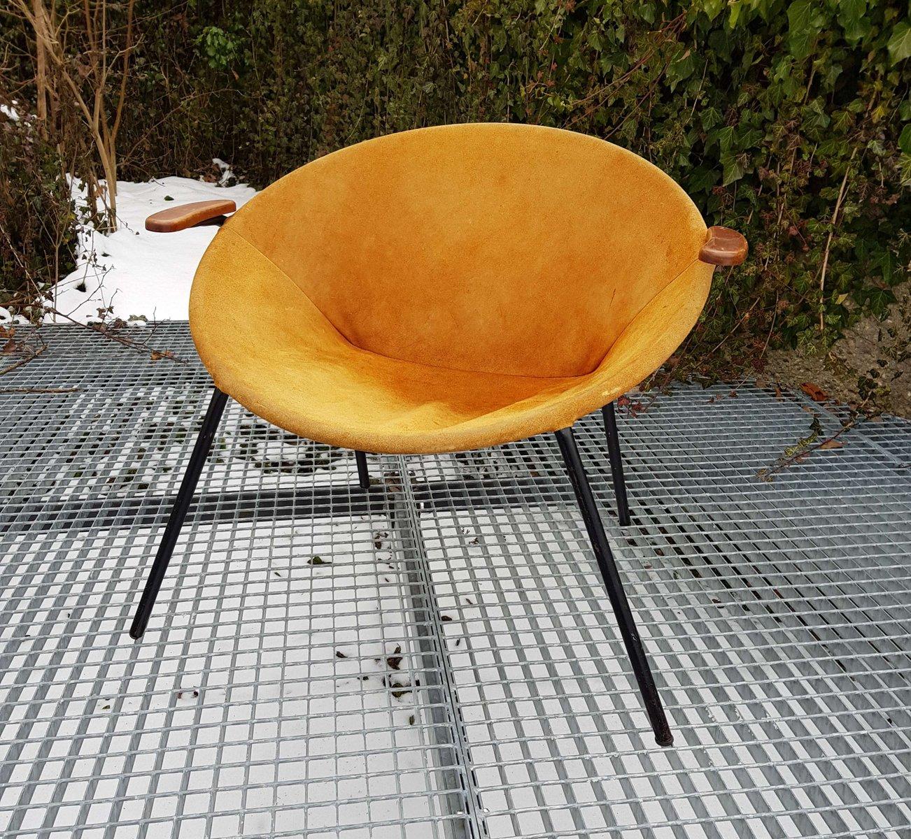 Mid-Century Wildleder Sessel von Hans Olsen für LEA