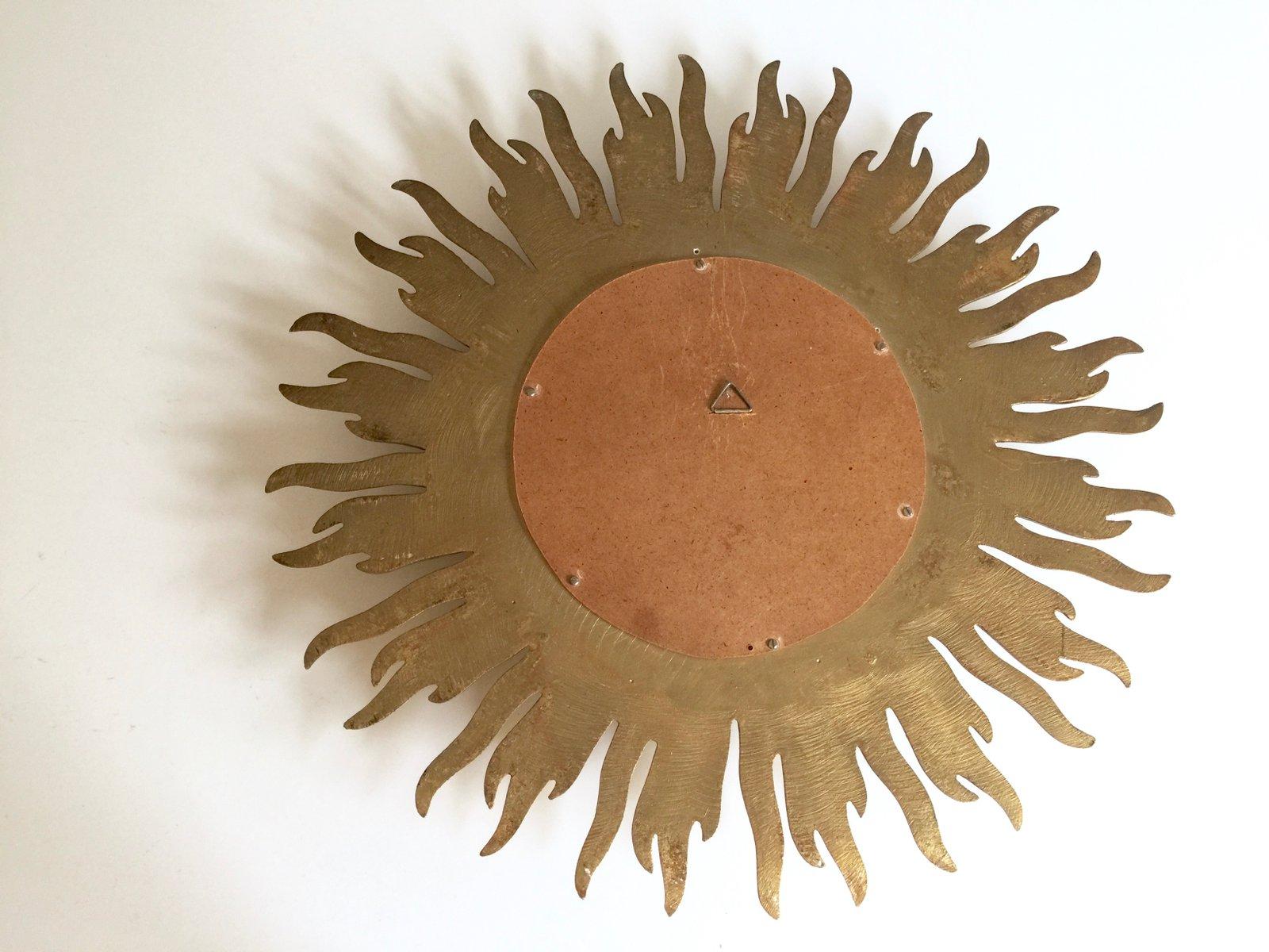 Specchio convesso vintage art d co a forma di sole in vendita su pamono - Specchio a forma di sole ...