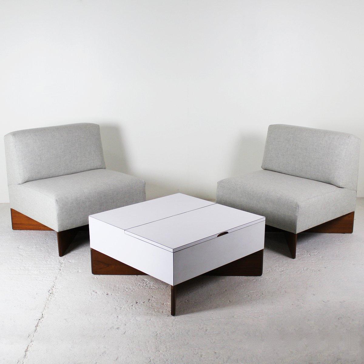 CA21 Capitole Sessel & Aquilon Couchtisch von Pierre Guariche für Huch...