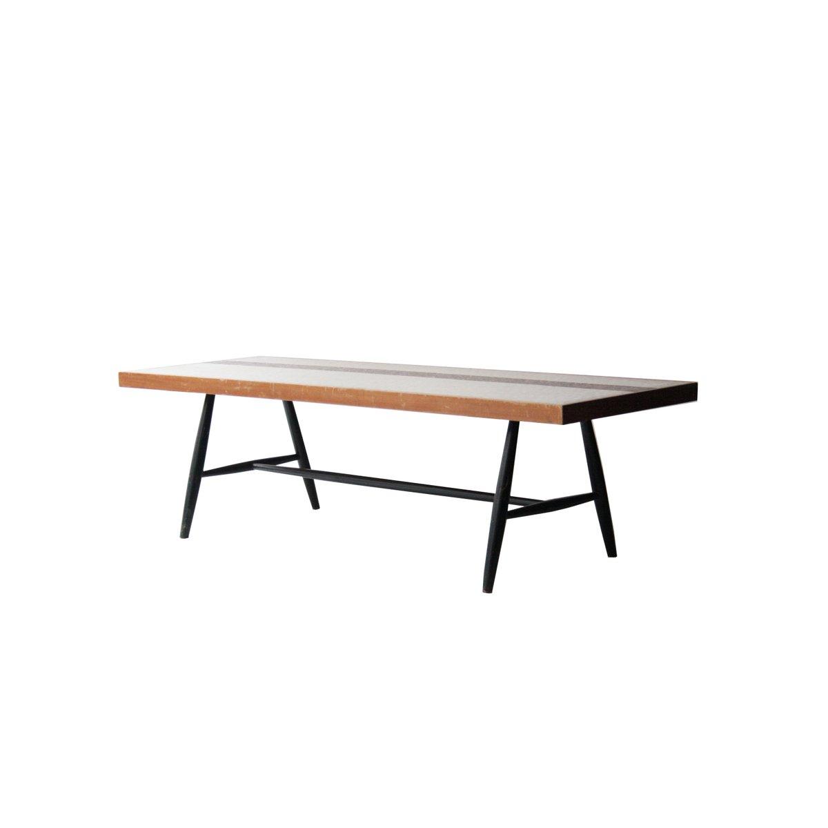 Französischer Tisch mit Fliesen aus Glas, 1950er