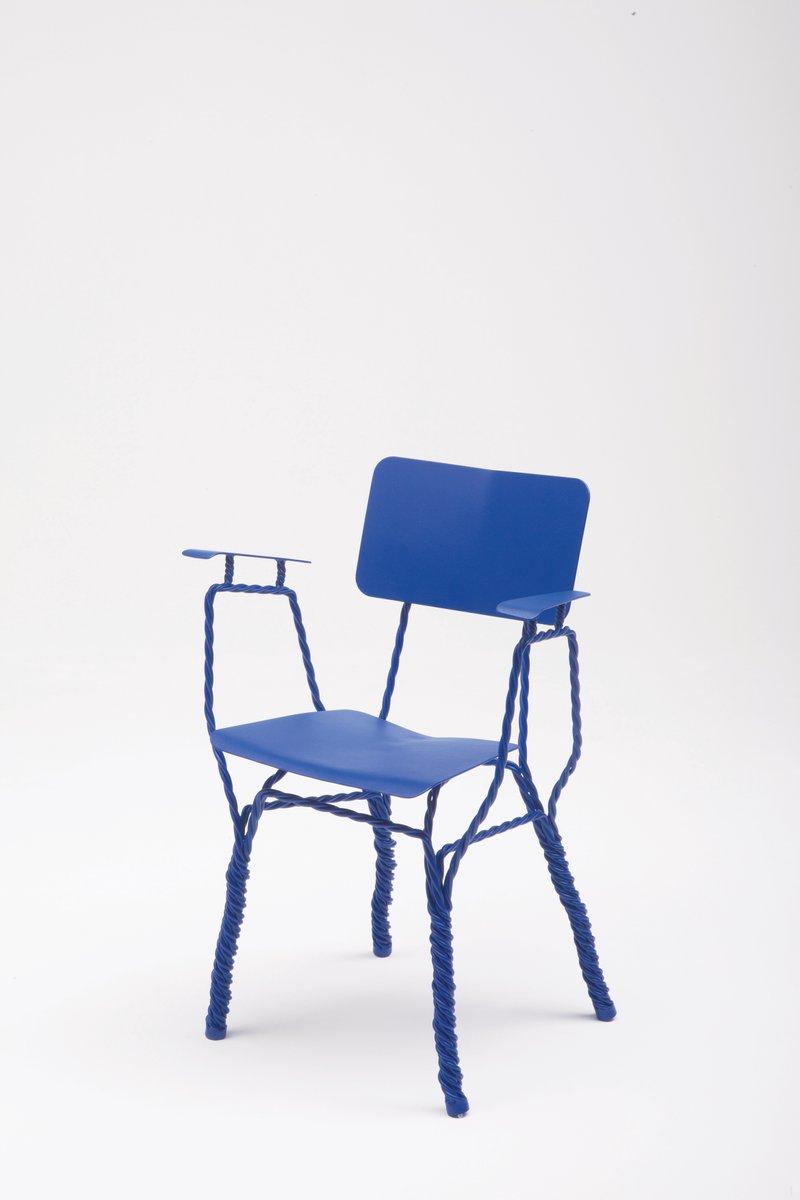twisted stuhl mit armlehnen von ward wijnant bei pamono kaufen. Black Bedroom Furniture Sets. Home Design Ideas