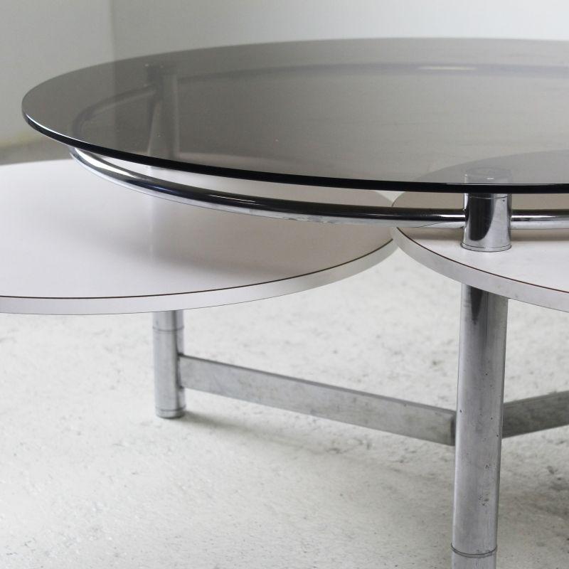 couchtisch aus verchromtem metall laminat glas 1970er bei pamono kaufen. Black Bedroom Furniture Sets. Home Design Ideas
