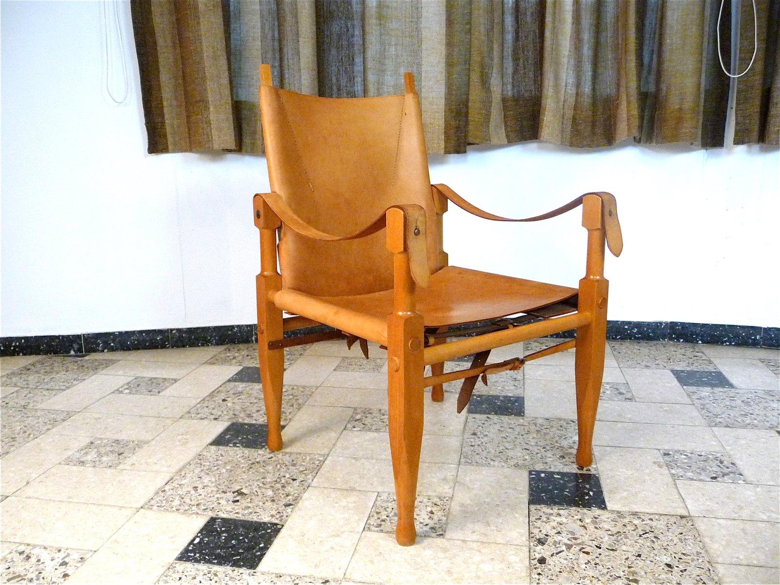 Schweizer Leder Safari Sessel von Wilhelm Kienzle für Wohnbedarf, 1960...