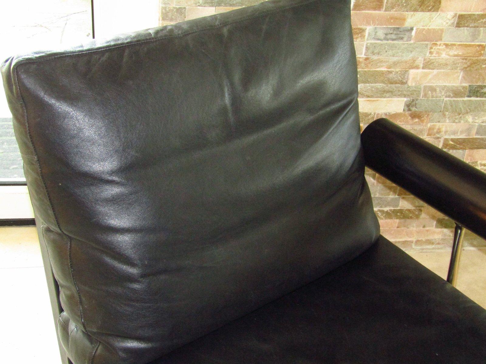Chaise longue en cuir par antonio citterio pour b b italia 1982 en vente sur pamono - Chaise longue en anglais ...
