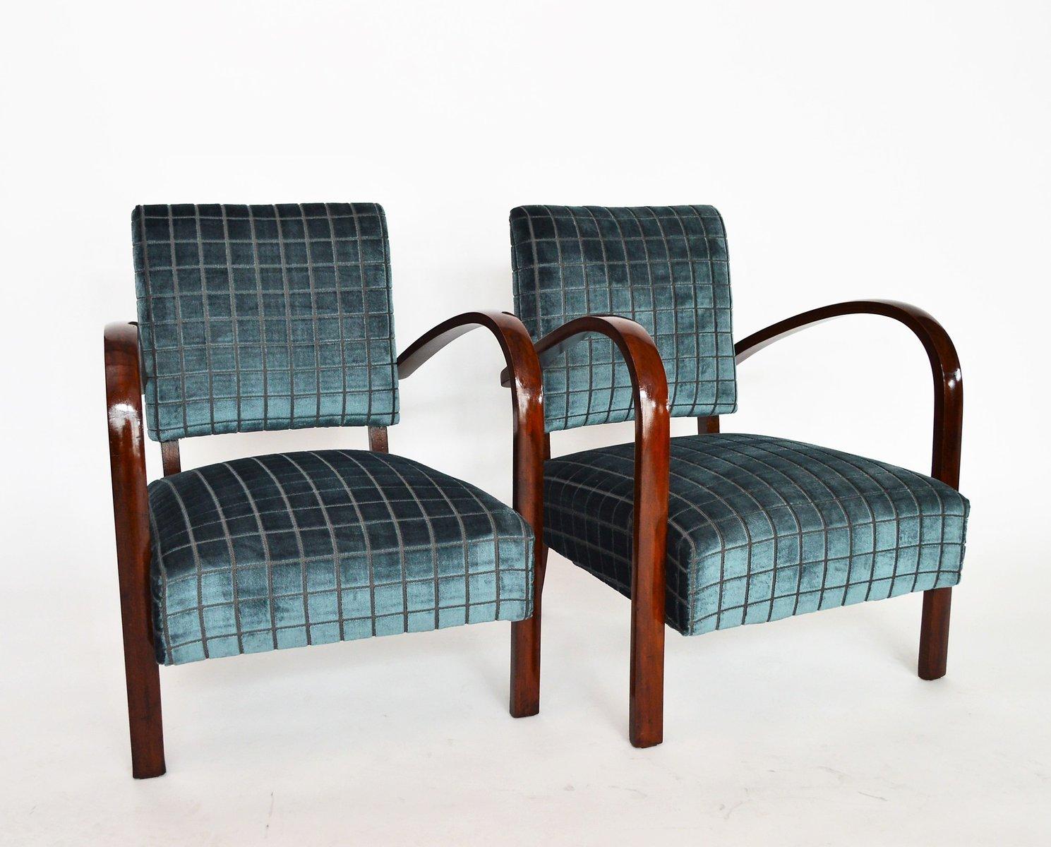 italienische sessel aus buche samt 2er set bei pamono kaufen. Black Bedroom Furniture Sets. Home Design Ideas