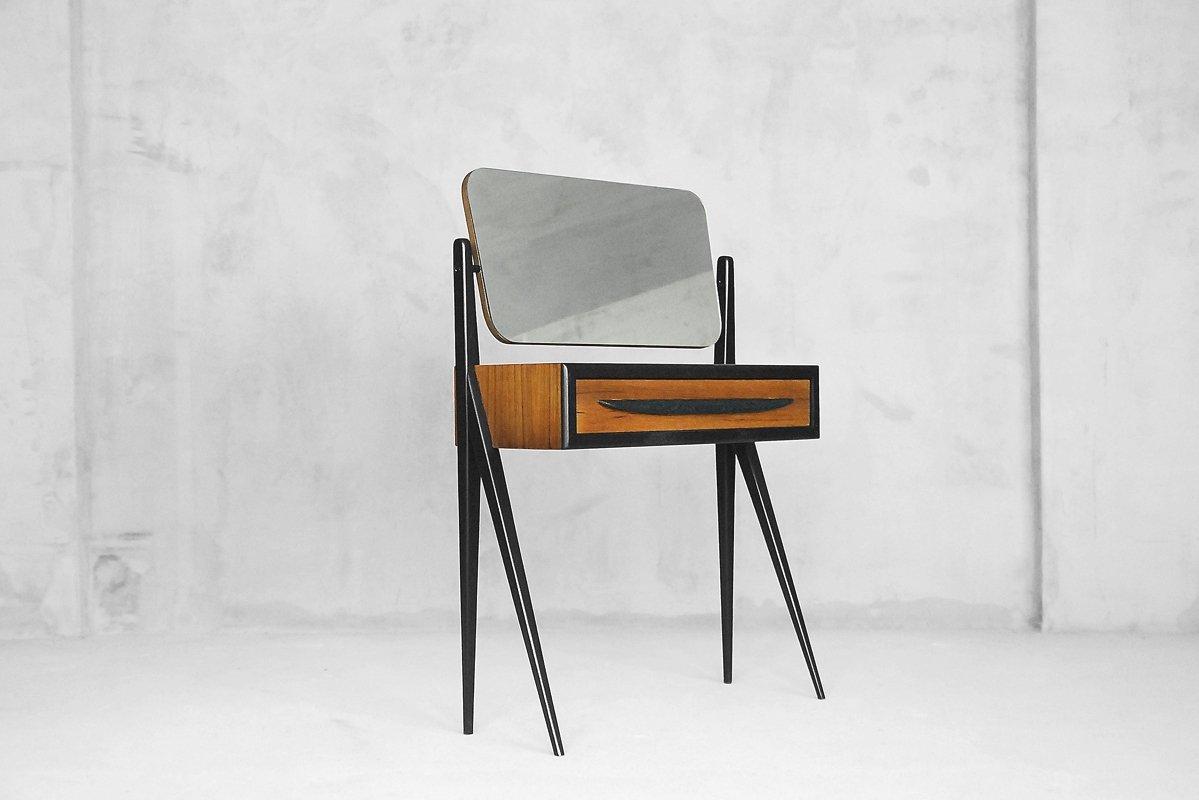 d nischer mid century frisiertisch mit spiegel 1960er bei. Black Bedroom Furniture Sets. Home Design Ideas