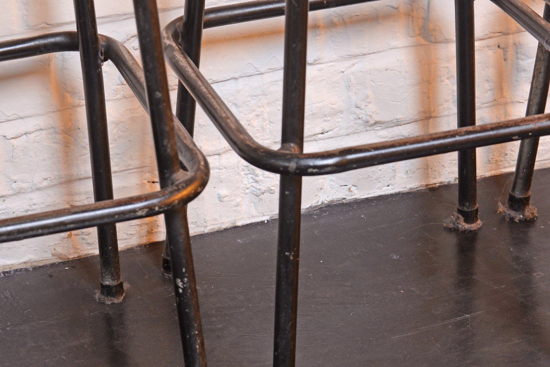 Sgabelli bar mid century industriali anni set di in