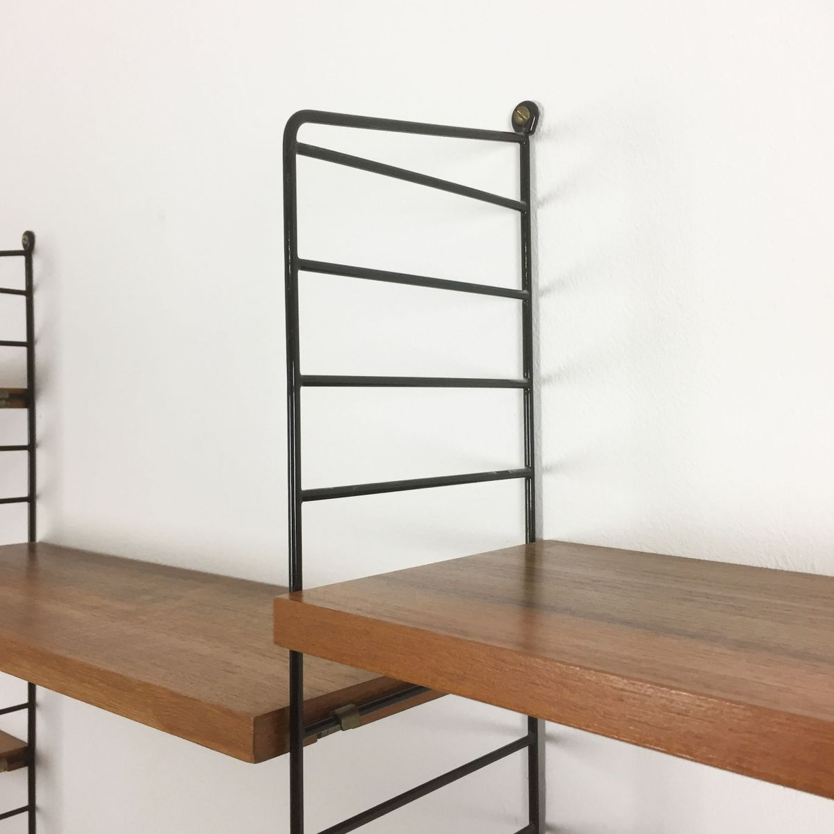 schwedisches teak regal system von kajsa nils strinning f r string 1960er bei pamono kaufen. Black Bedroom Furniture Sets. Home Design Ideas