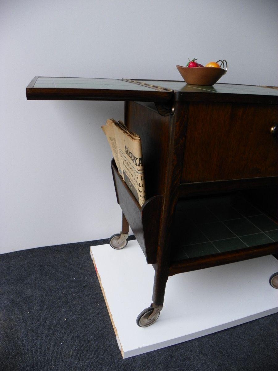 folding mobile table 1930s for sale at pamono. Black Bedroom Furniture Sets. Home Design Ideas