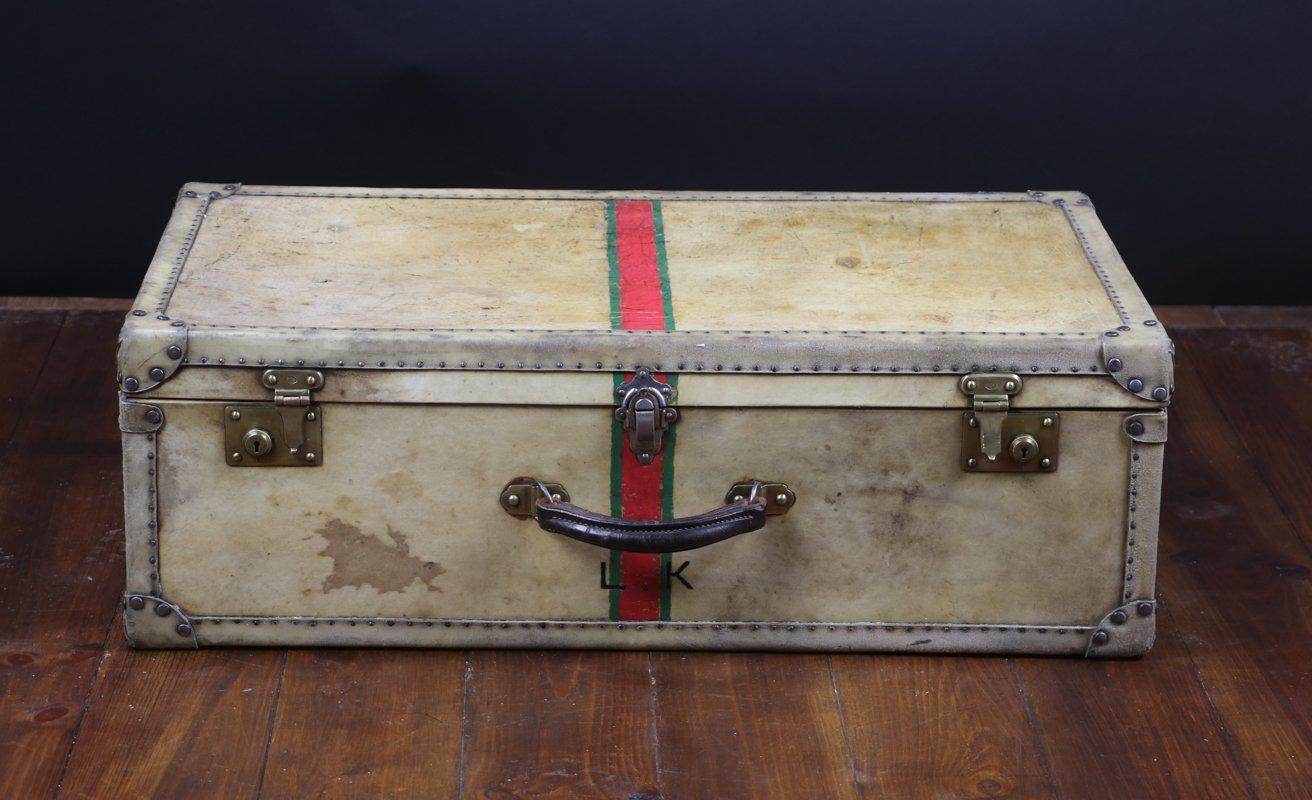 vintage pergament koffer bei pamono kaufen. Black Bedroom Furniture Sets. Home Design Ideas