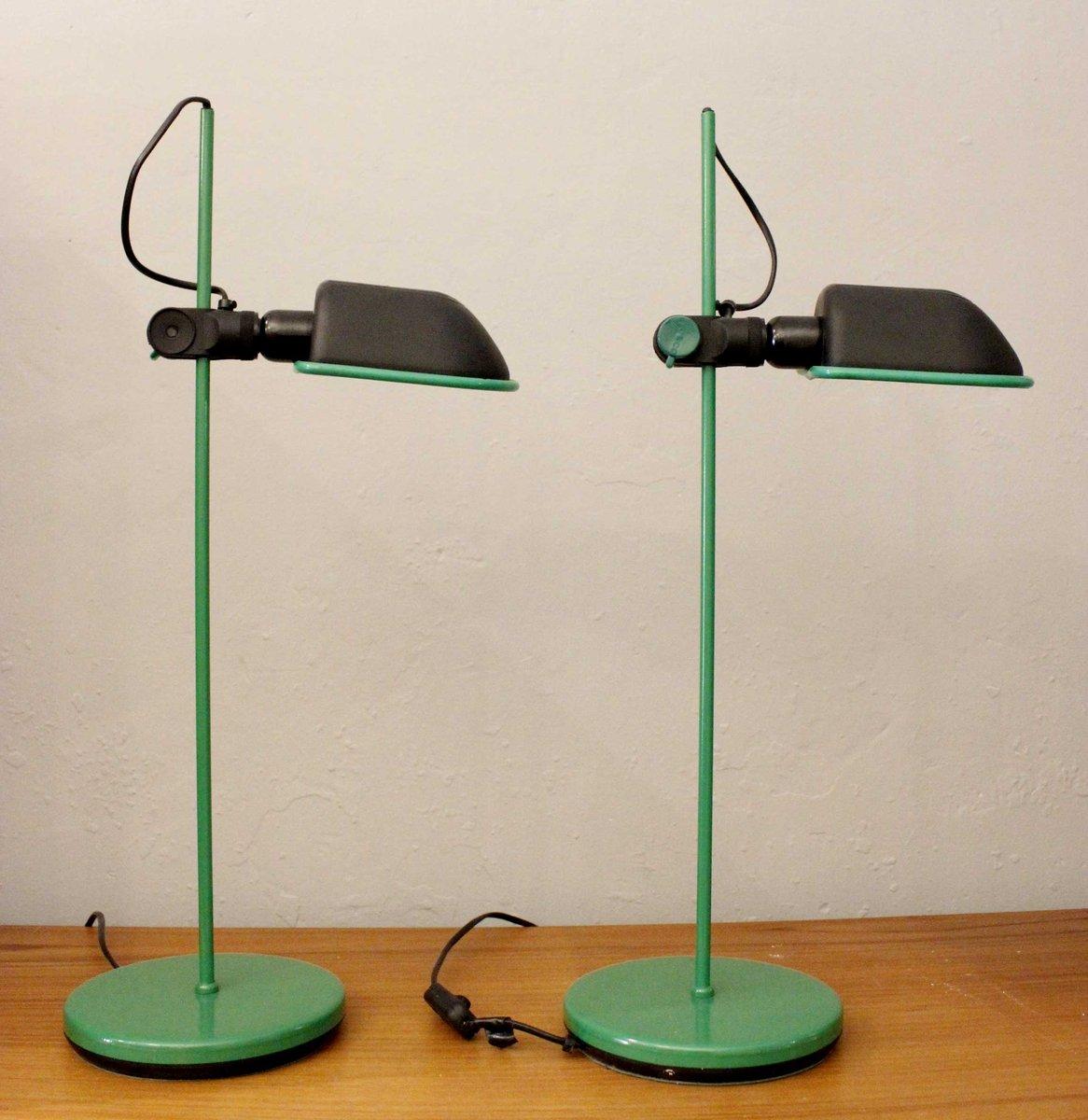 Grüne Spanische Lampen, 1970er, 2er Set