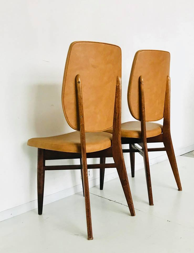 d nische mid century st hle 1960er 4er set bei pamono kaufen. Black Bedroom Furniture Sets. Home Design Ideas