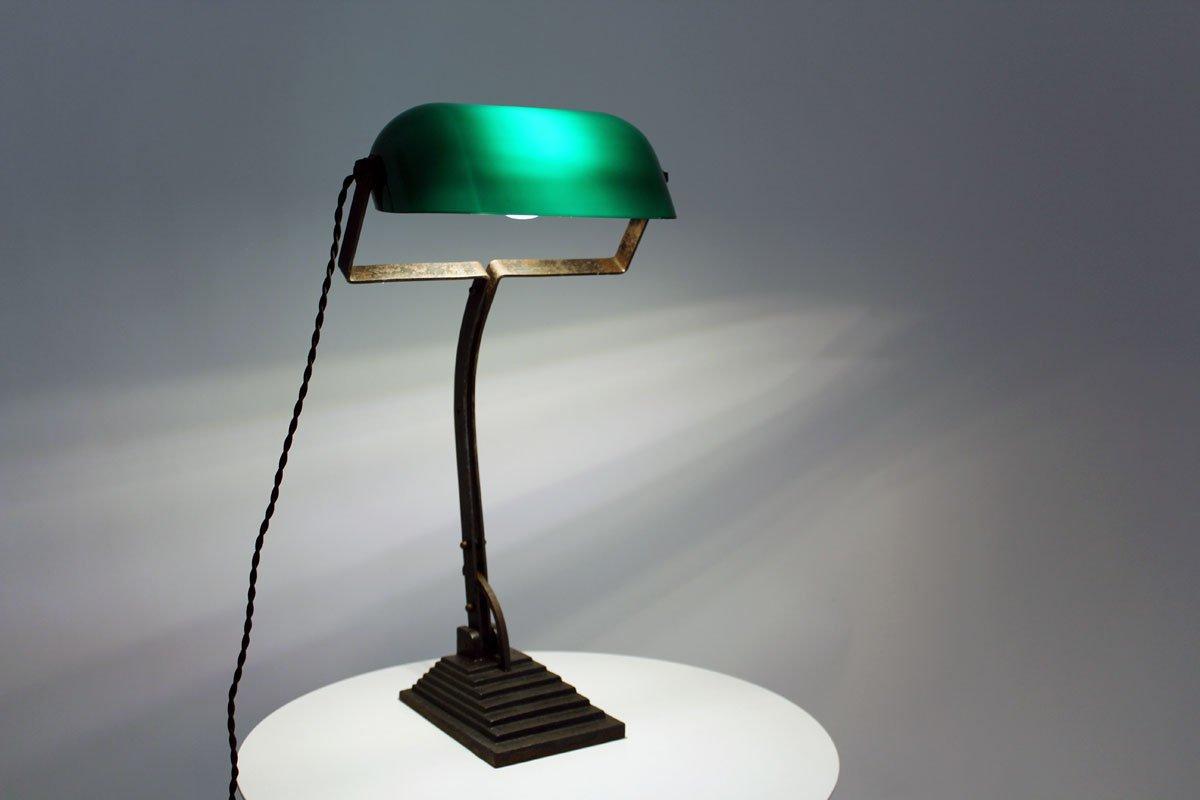 Antike Wiener Bank Lampe