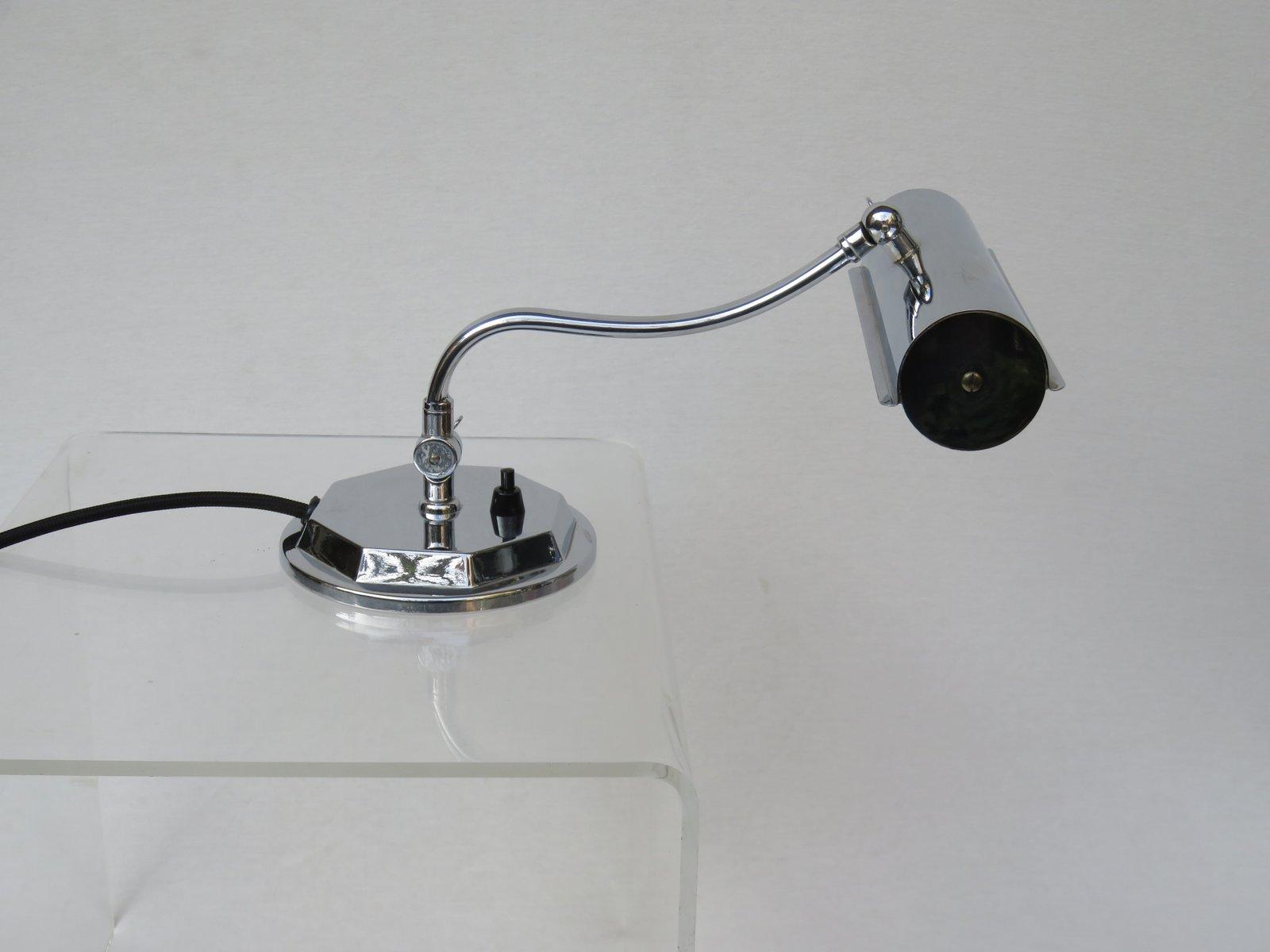 Verchromte Art Deco Klavier Lampe