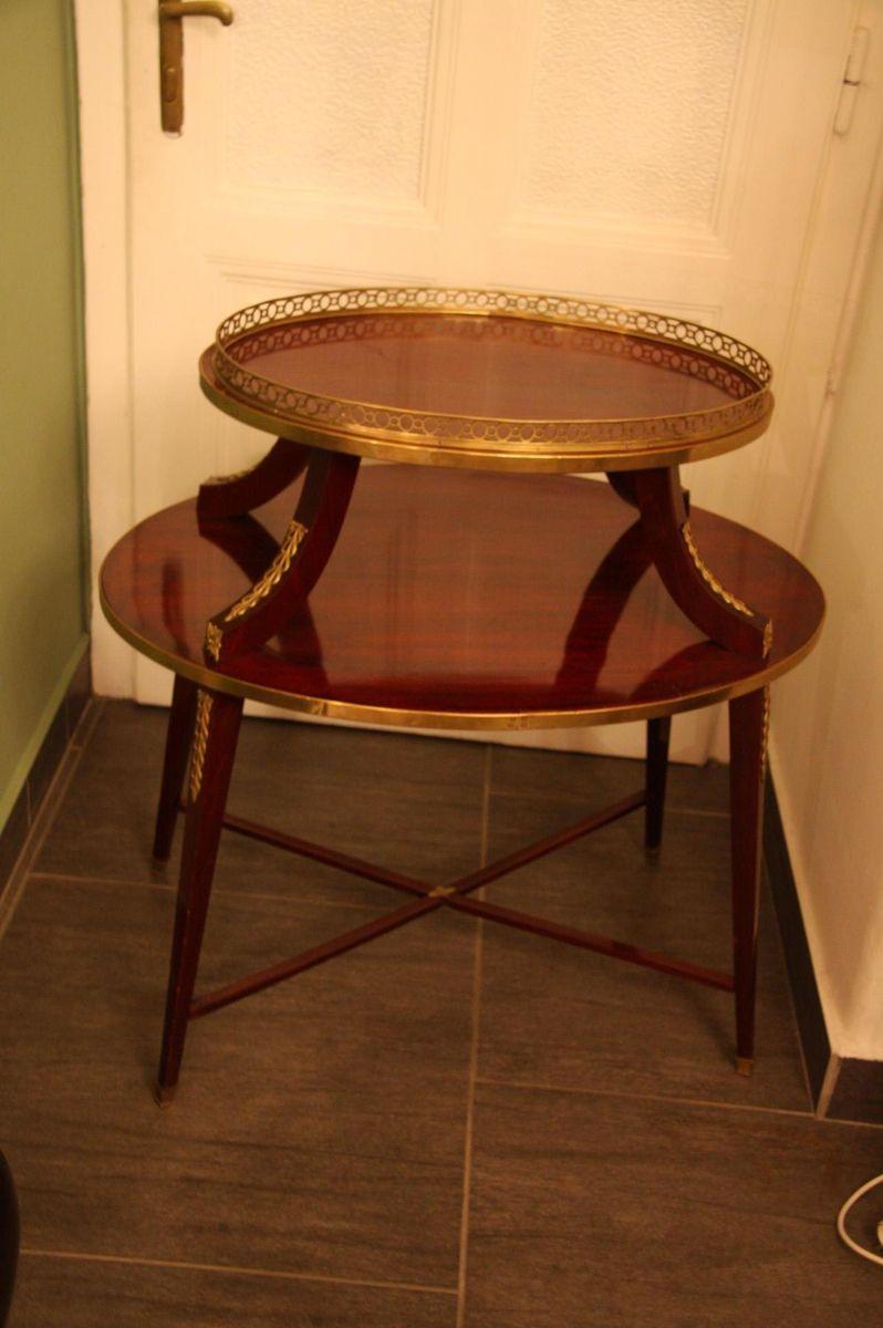 ovaler tisch mit ablage 19 jh bei pamono kaufen. Black Bedroom Furniture Sets. Home Design Ideas