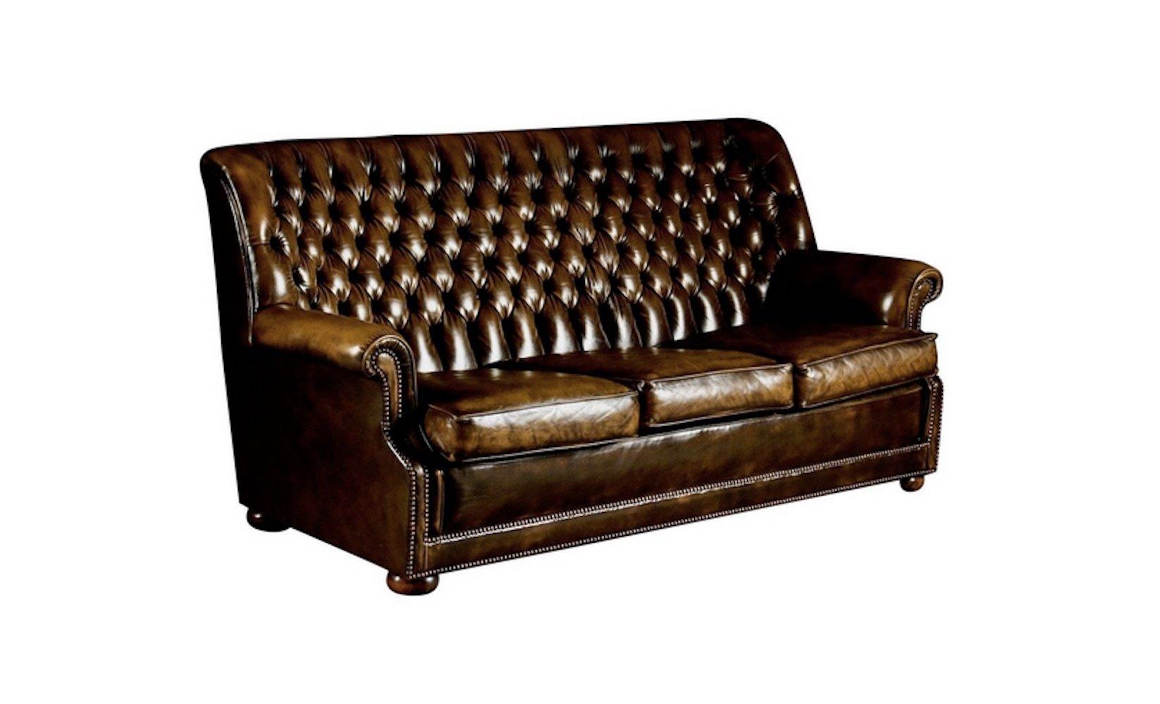 Braunes Pegasus Ledersofa von Art Forma Upholstery Ltd, 1970er