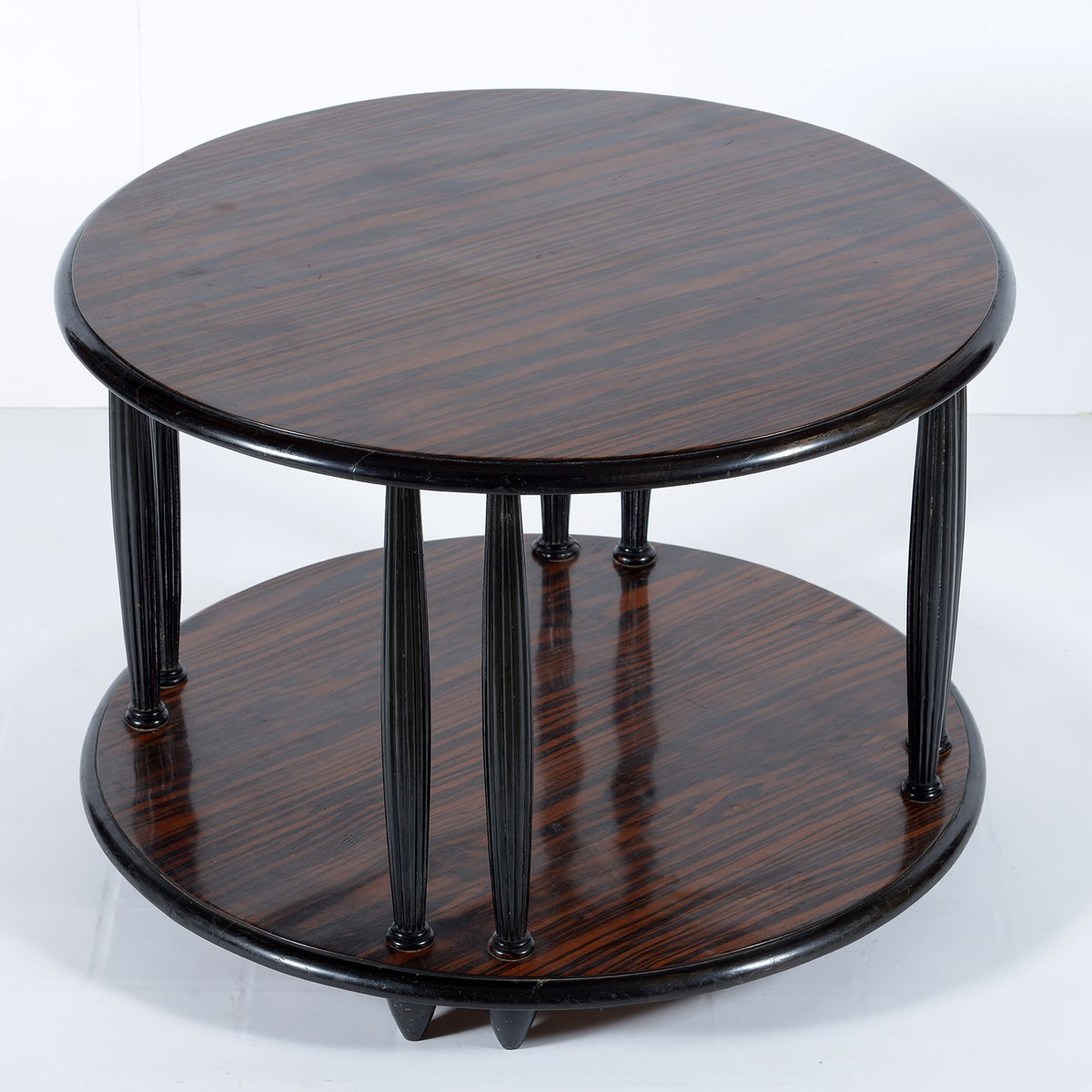 Art Deco Black Lacquered Coffee Table ,1920s For Sale At