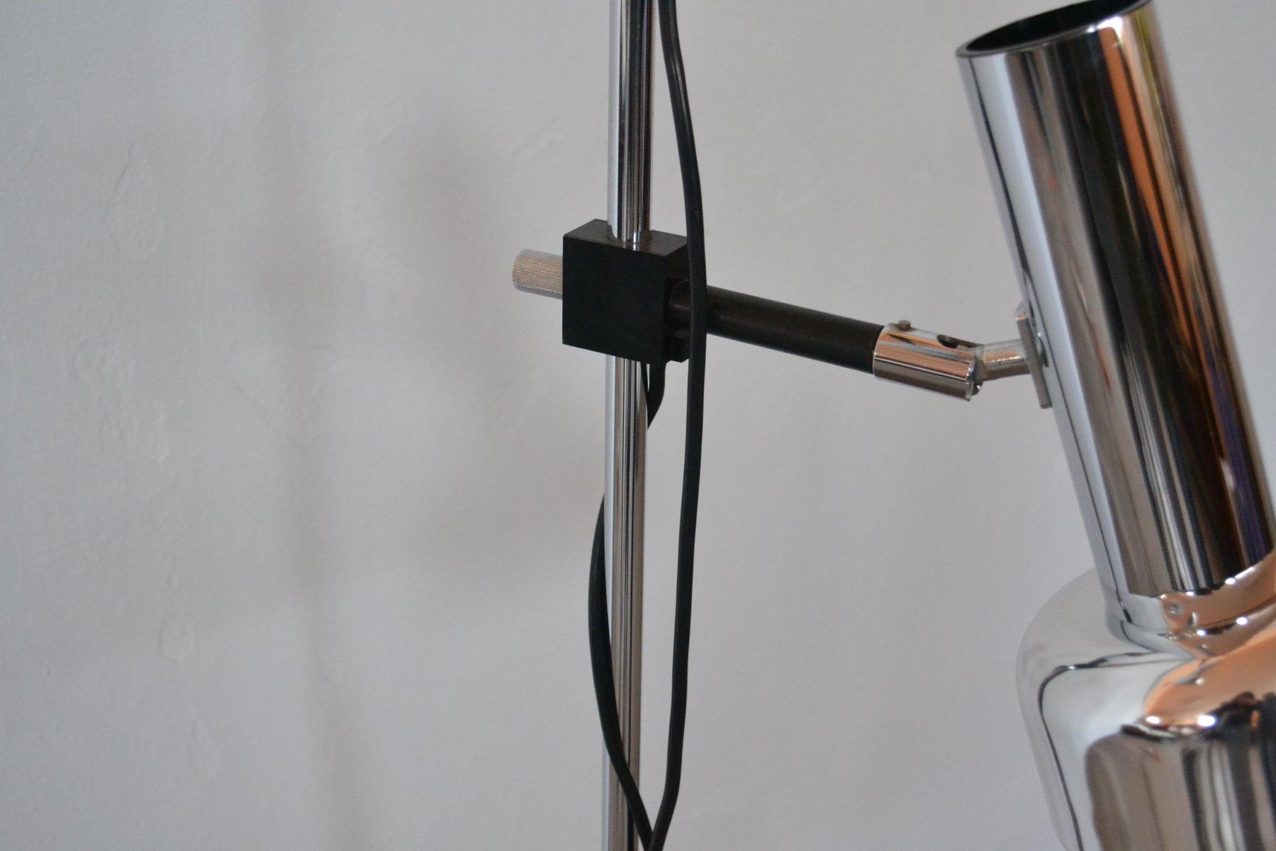 Lampe mit zwei schirmen von koch lowy f r omi 1970er for Lampe mit mehreren schirmen
