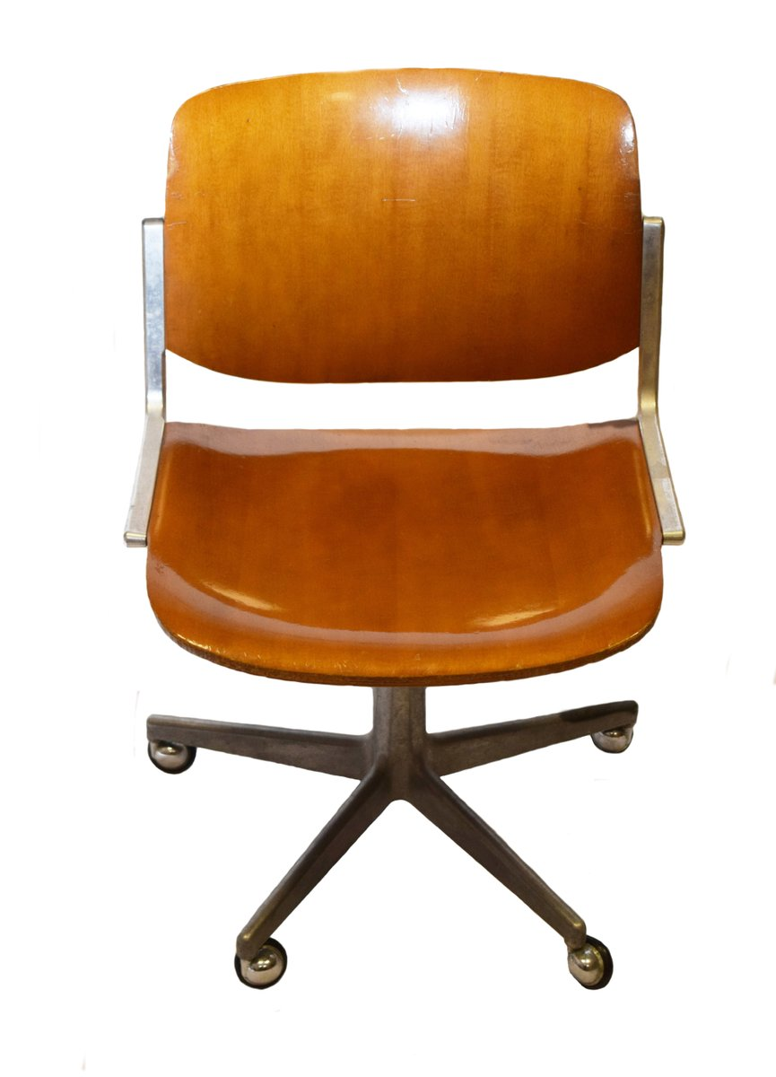 Vintage Office Chair by Giancarlo Piretti for Anonima Castelli - Vintage Office Chair By Giancarlo Piretti For Anonima Castelli For