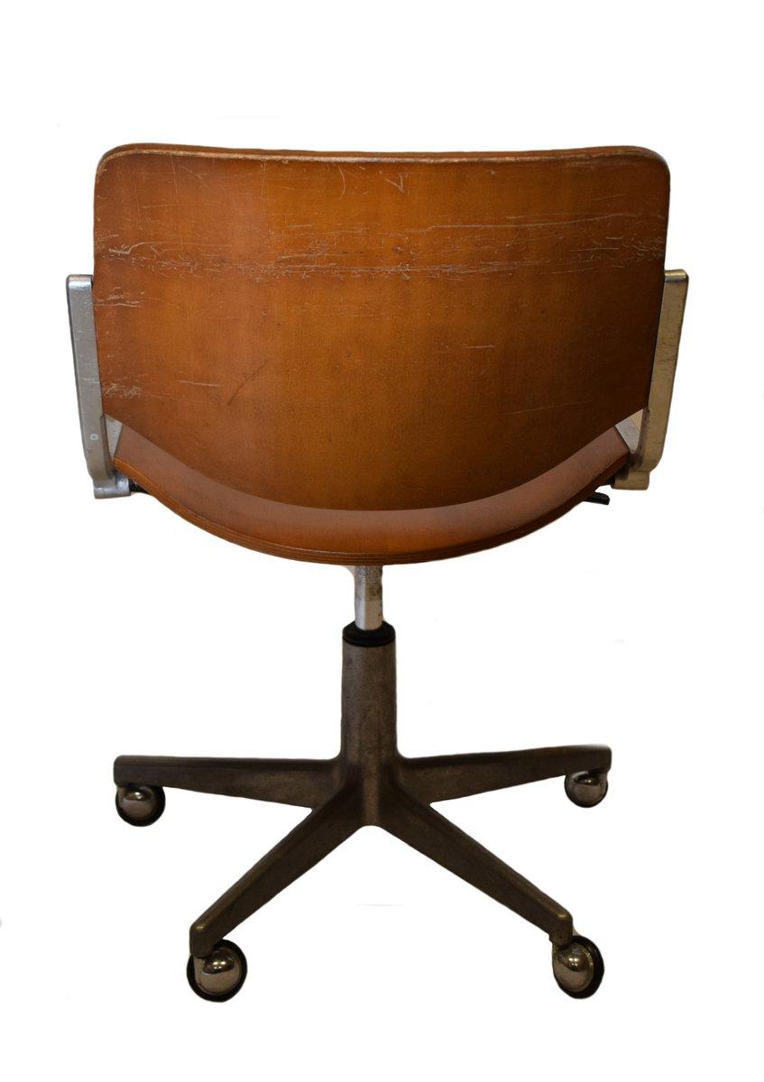 chaise de bureau vintage par giancarlo piretti pour anonima castelli en vente sur pamono. Black Bedroom Furniture Sets. Home Design Ideas