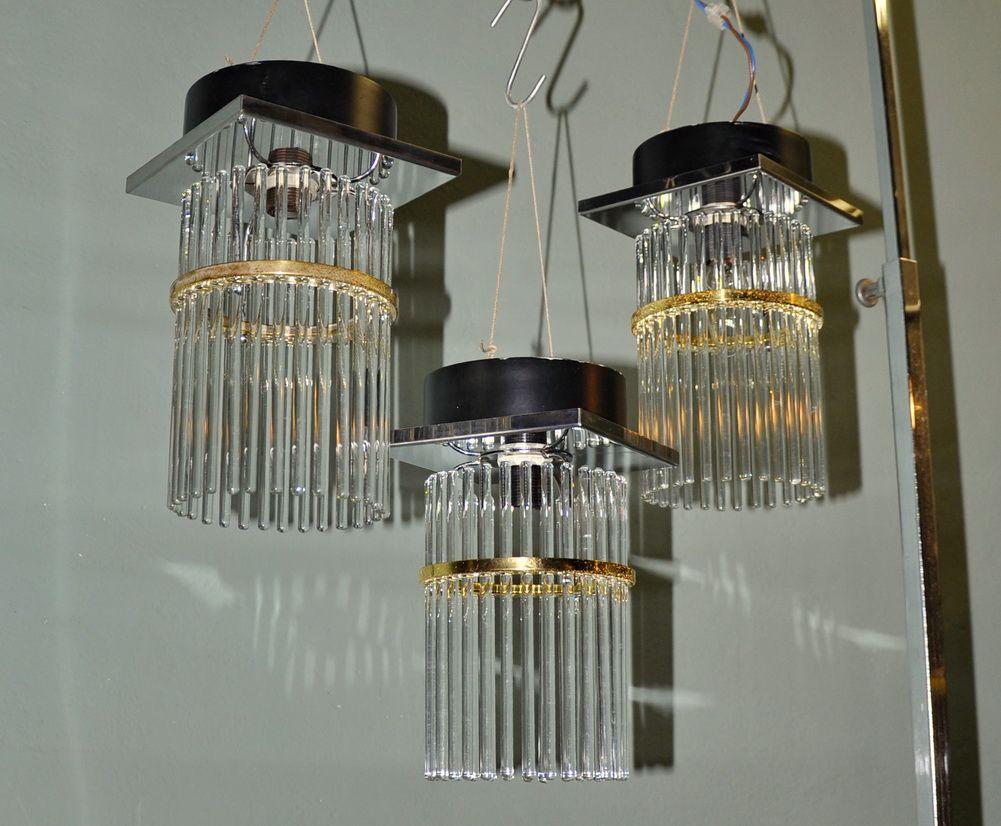 Deckenlampen von Sciolari, 1970er, 3er Set