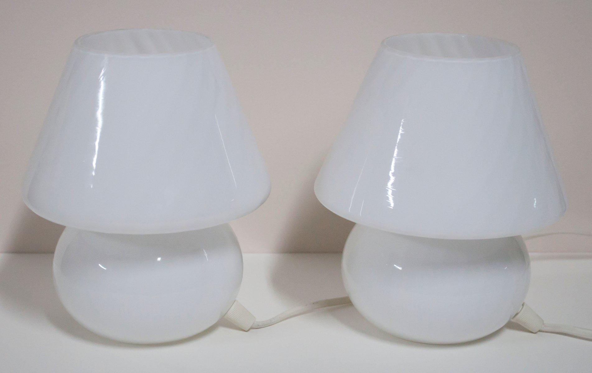 Mushroom Tischlampen von Paolo Venini, 1960er, 2er Set