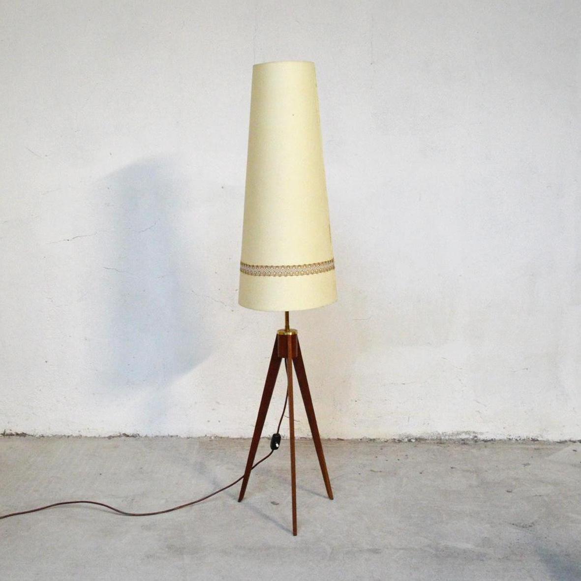 Faszinierend Dreibein Stehlampe Beste Wahl Teak Stehlampe, 1960er