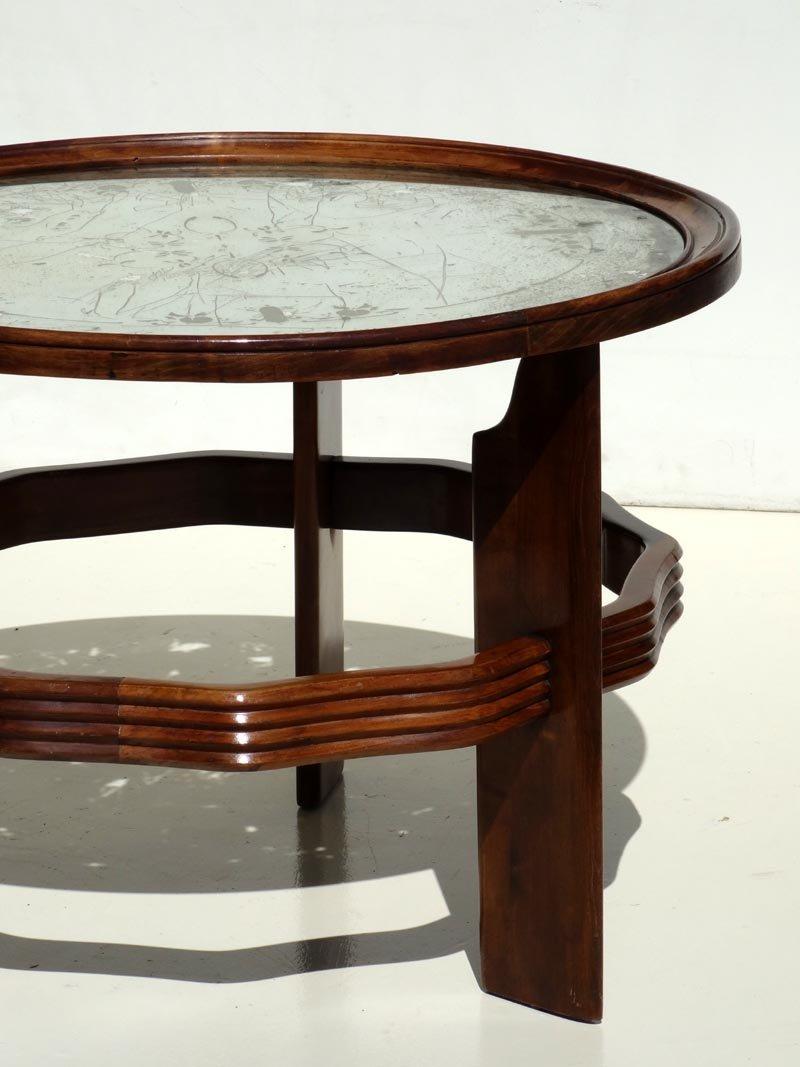italienischer vintage art deco couchtisch von vittorio valabrega bei pamono kaufen. Black Bedroom Furniture Sets. Home Design Ideas