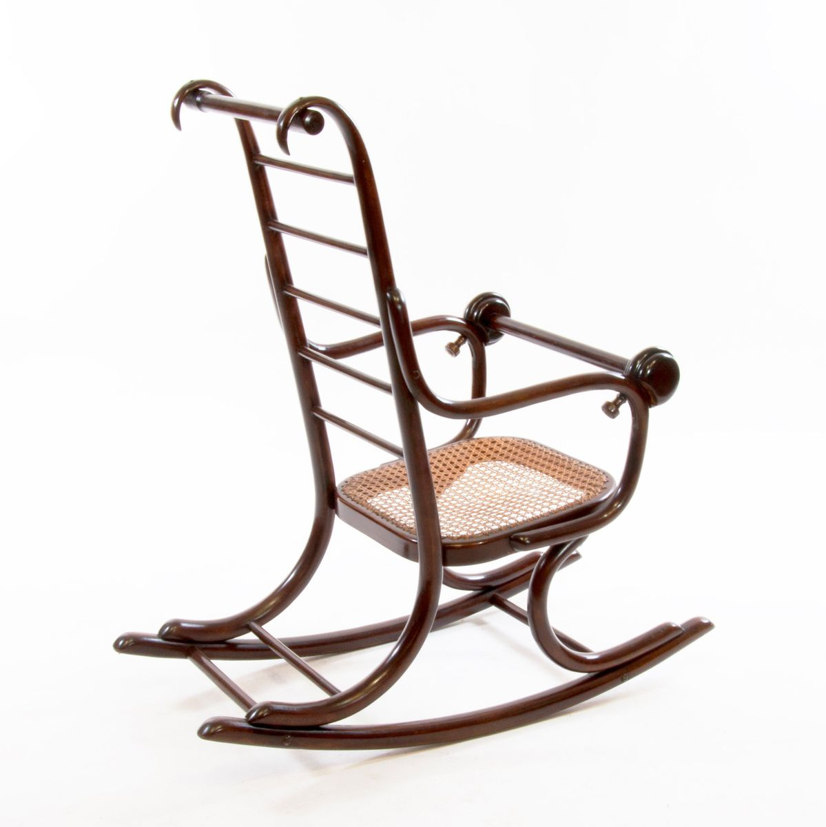 rocking chair pour enfants art nouveau en bois courb par professor epstein thonet 1920s en. Black Bedroom Furniture Sets. Home Design Ideas