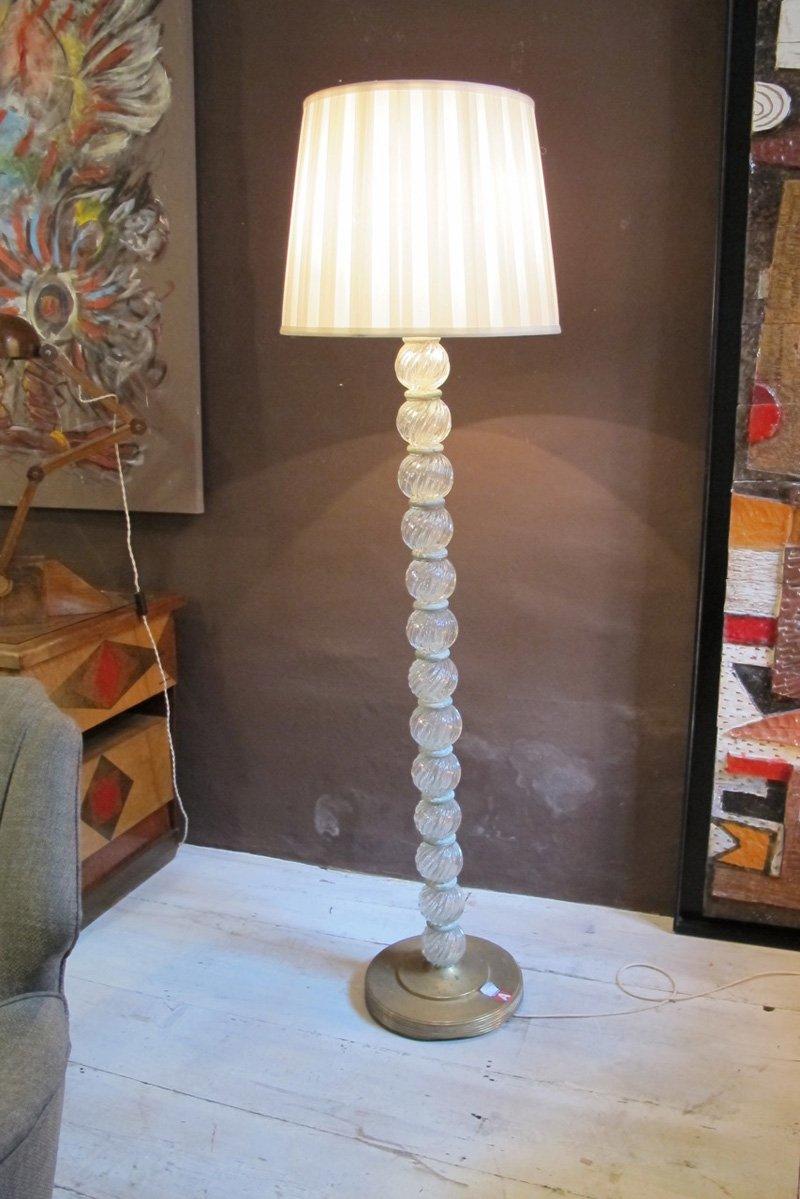 Stehlampe von Barovier and Toso, 1950er