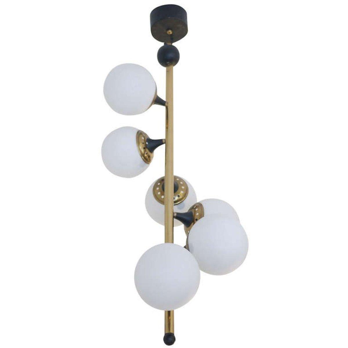 Italienische Deckenlampe für Stilnovo, 1950er