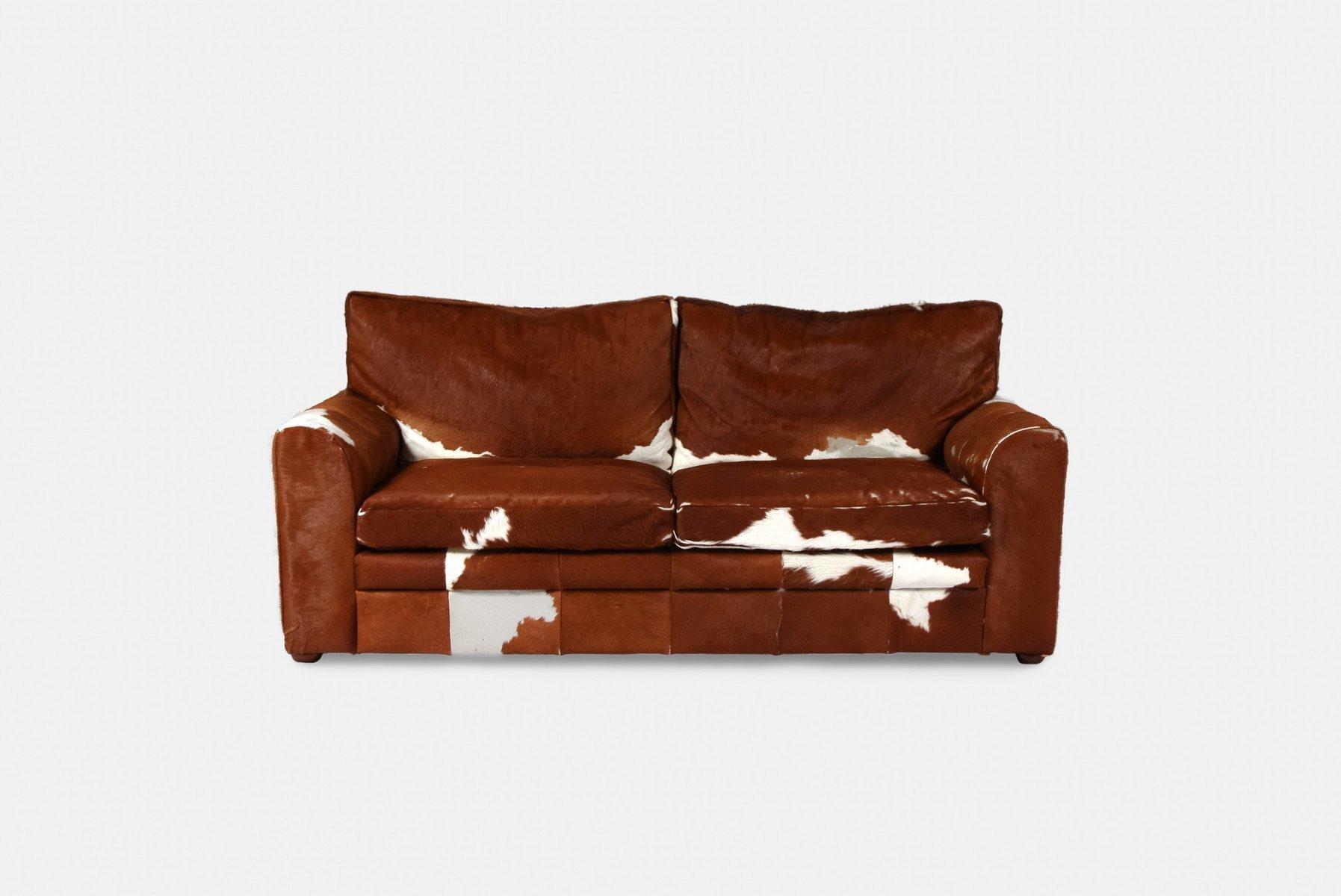 Vintage Cowhide Sofa 1970s
