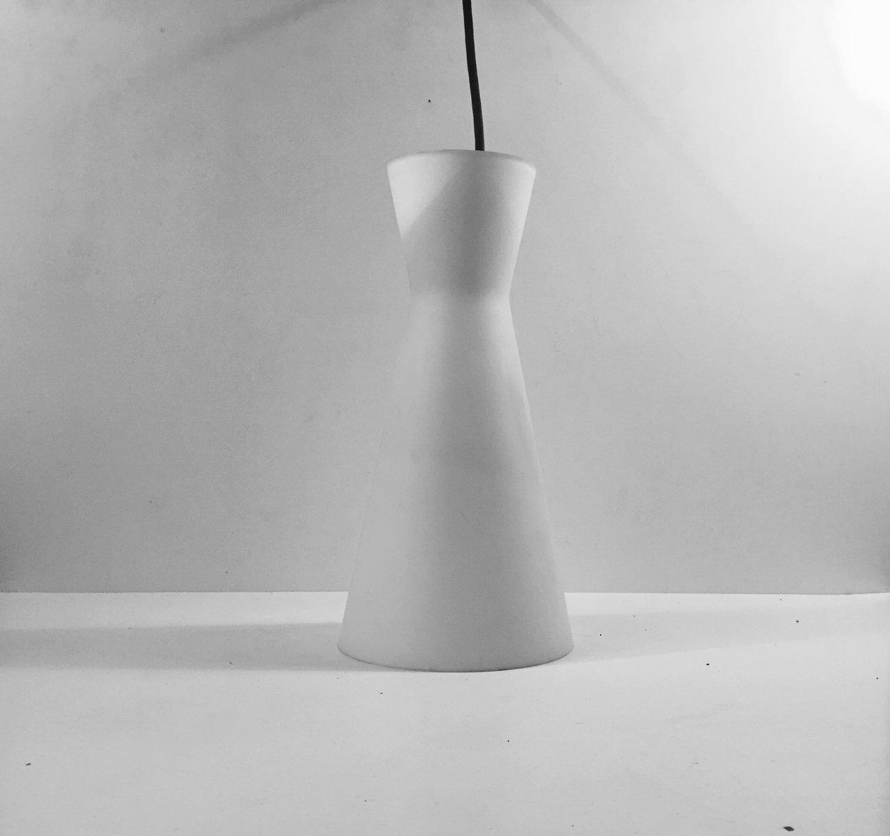Dänische Moderne Opalglas Diabolo Hängelampe von Fog & Mørup & Holmega...