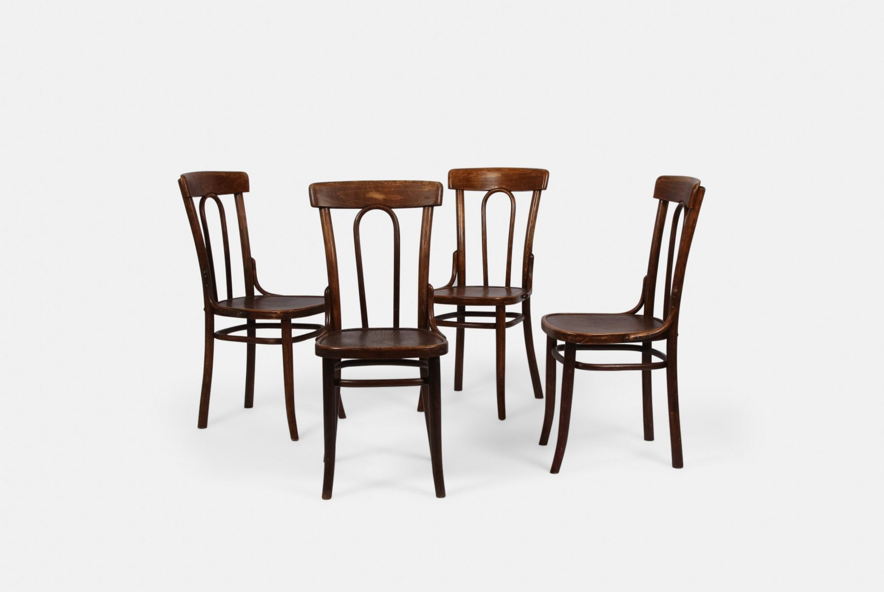 Attirant Vintage Bentwood Chairs, Set Of 4