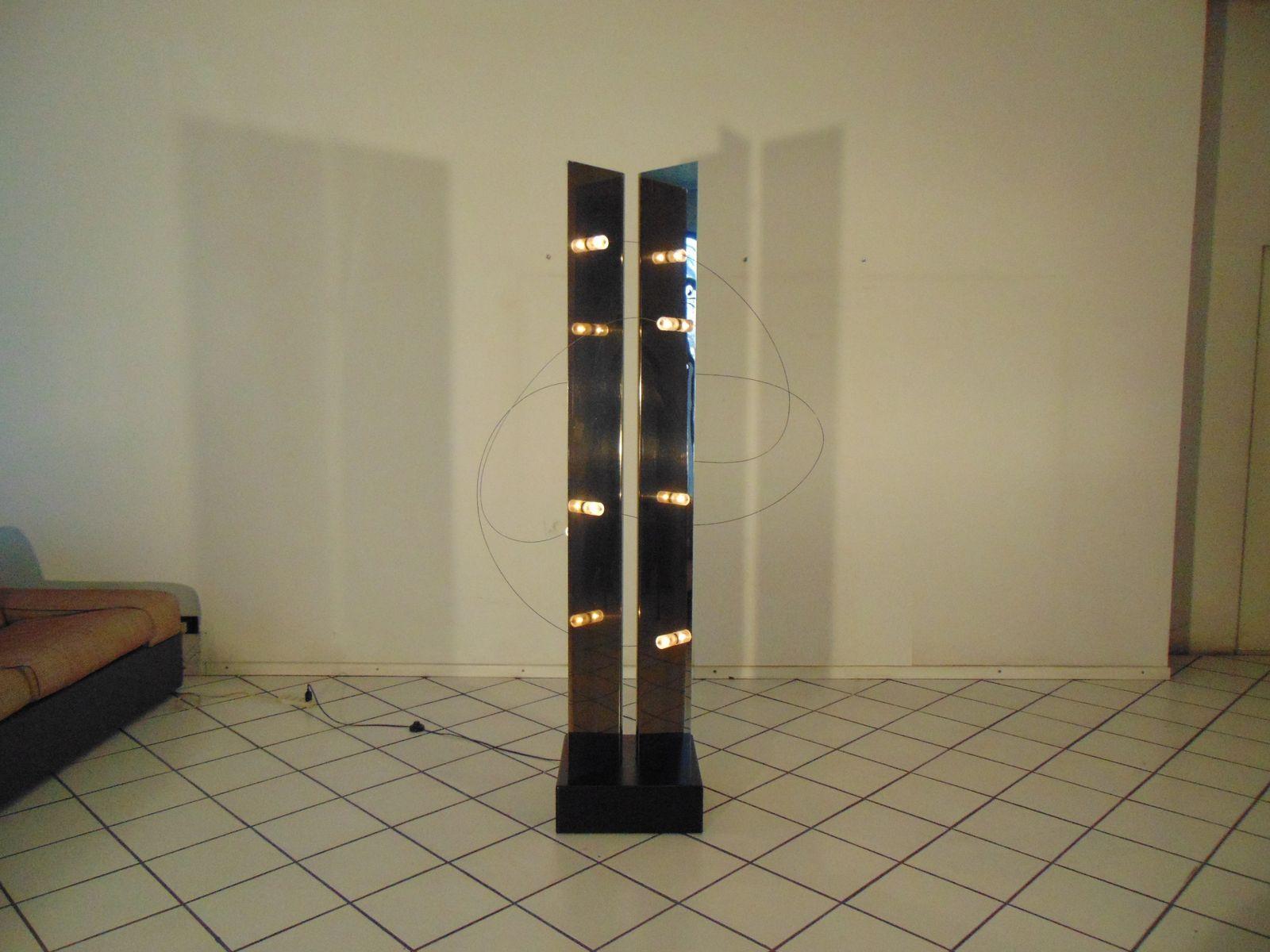 Verchromte Skulpturale Lampe von Studio A.R.D.I.T.I für Sormani, 1971