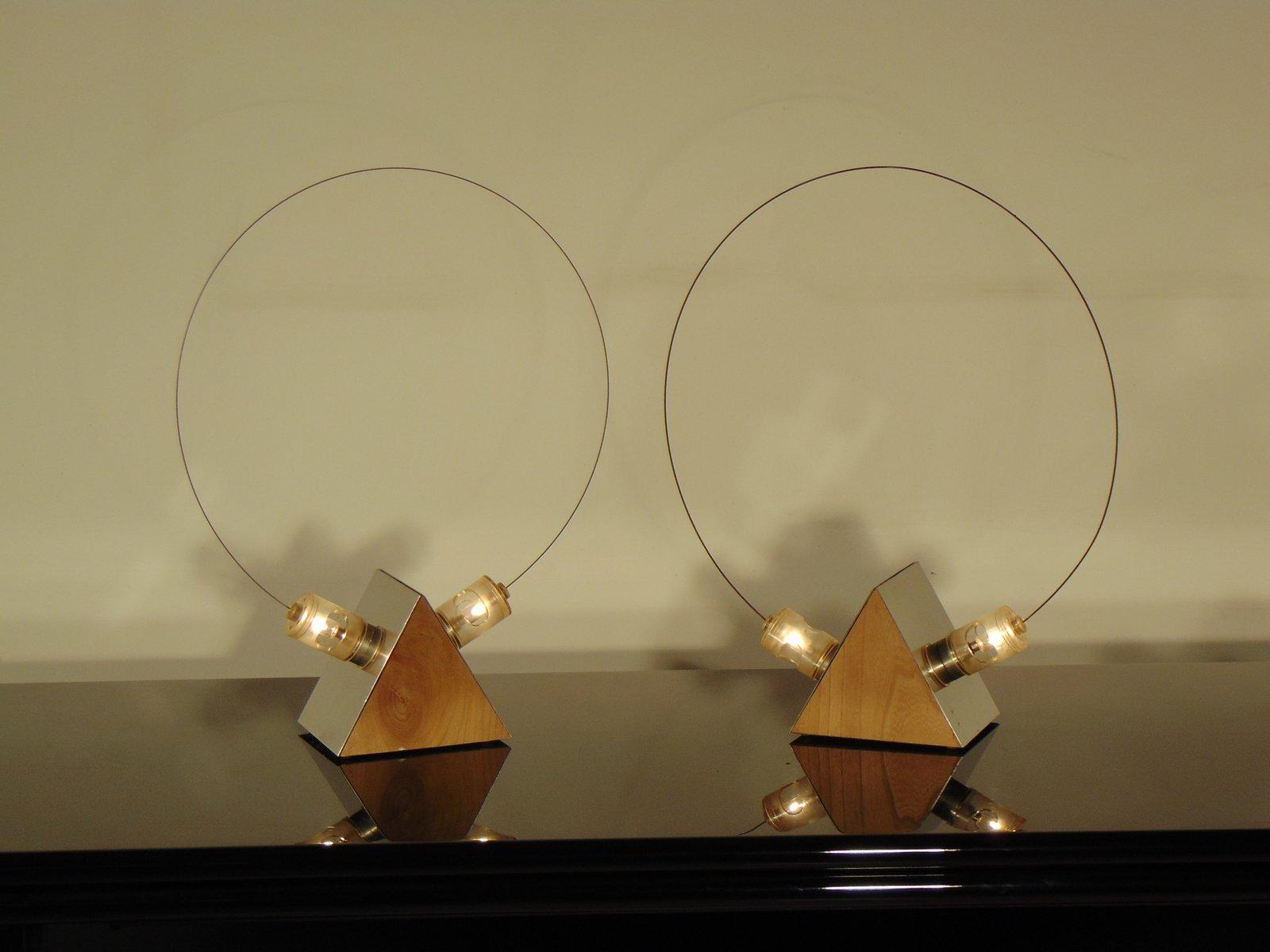 Italienische Verchromte Tischlampen von Studio A.R.D.I.T.I. für Sorman...