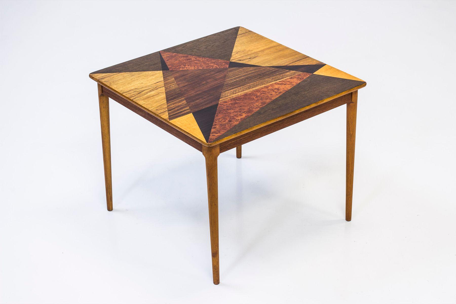 Schwedischer Tisch mit Geometrischer Intarsie von Svenska Möbelfabrike...
