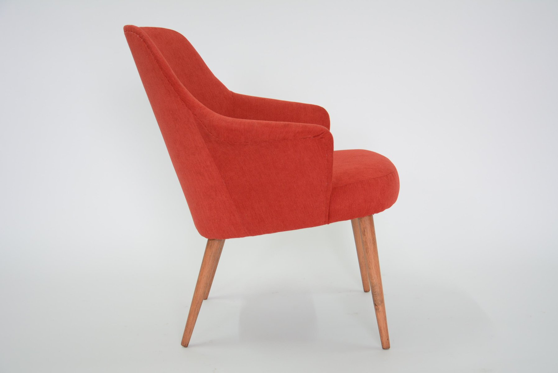 Vintage German Red Tulip Chair, 1970s